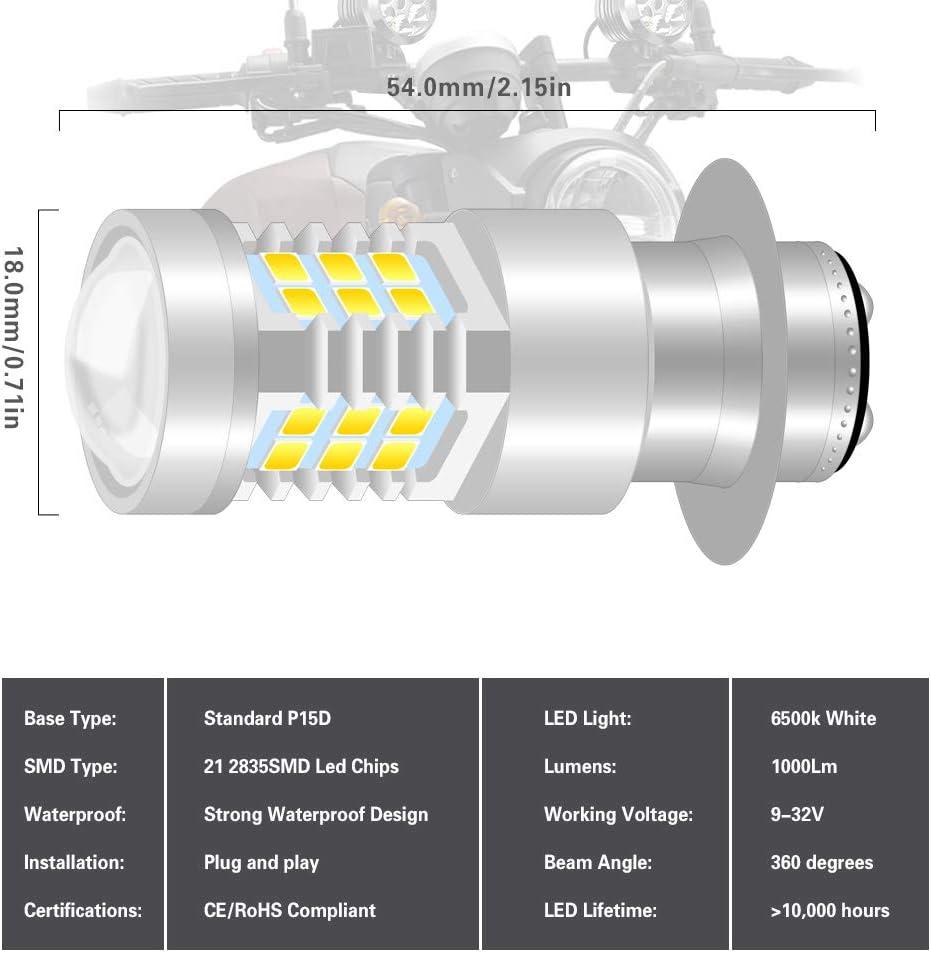 NATGIC H4 9003 HB2 LED Bombillas Antiniebla Hight Power 55W CSP Chips Reemplazar por Faros Kit de Bombillas L/ámpara de Conducci/ón 3200LM y 6500K Xen/ón Blanco DC 9V 32V Paquete de 2