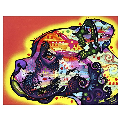 Profile Boxer Printed on a 10x13 inch Metal Wall Art by Dean Russo