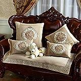 European-style Sofa Cushion Fabric/Solid Wood Sofa/Slip Sofa Towel/Cushion-A 70x120cm(28x47inch)