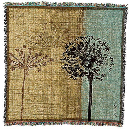 (Pure Country Weavers - In The Breeze Woven Throw Blanket with Fringe Cotton. USA Size 54x54)