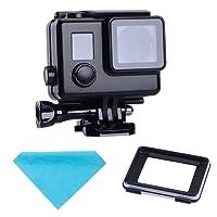 Suptig sostituzione alloggiamento impermeabile custodia protettiva nera touch per GoPro Hero 4Hero 3+ HERO3macchina fotografica di sport esterni per uso subacqueo impermeabile fino a 44,8m (45m)
