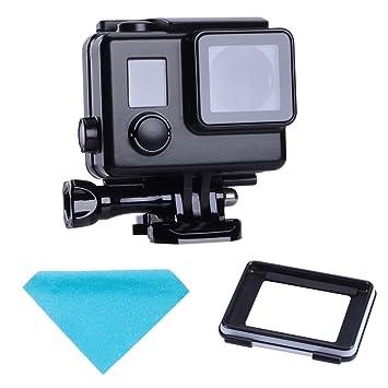 SupTig carcasa impermeable protectora negro vivienda táctil de repuesto para vivienda para GoPro Hero 4 Hero 3 + Hero3 fuera deporte cámara para uso ...