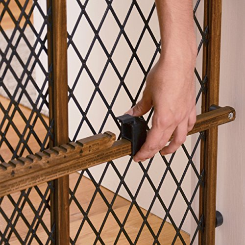 Evenflo Position and Lock Farmhouse Pressure Mount Gate, Dark Wood by Evenflo (Image #4)