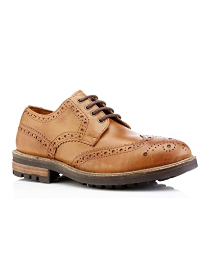 Red Tape Bracken Tan Leather Mens Classic Brogues Formal Smart Shoes Lace  Up UK 7 - f4e9acf4227d