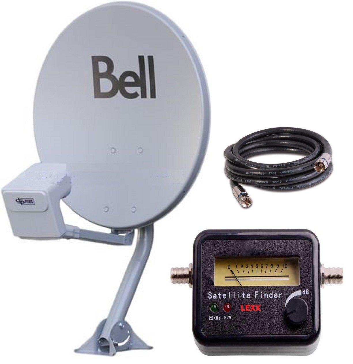 20' BELL TV SATELLITE DISH 500 KIT- Twin DPP LNB With Satellite Finder DISH500