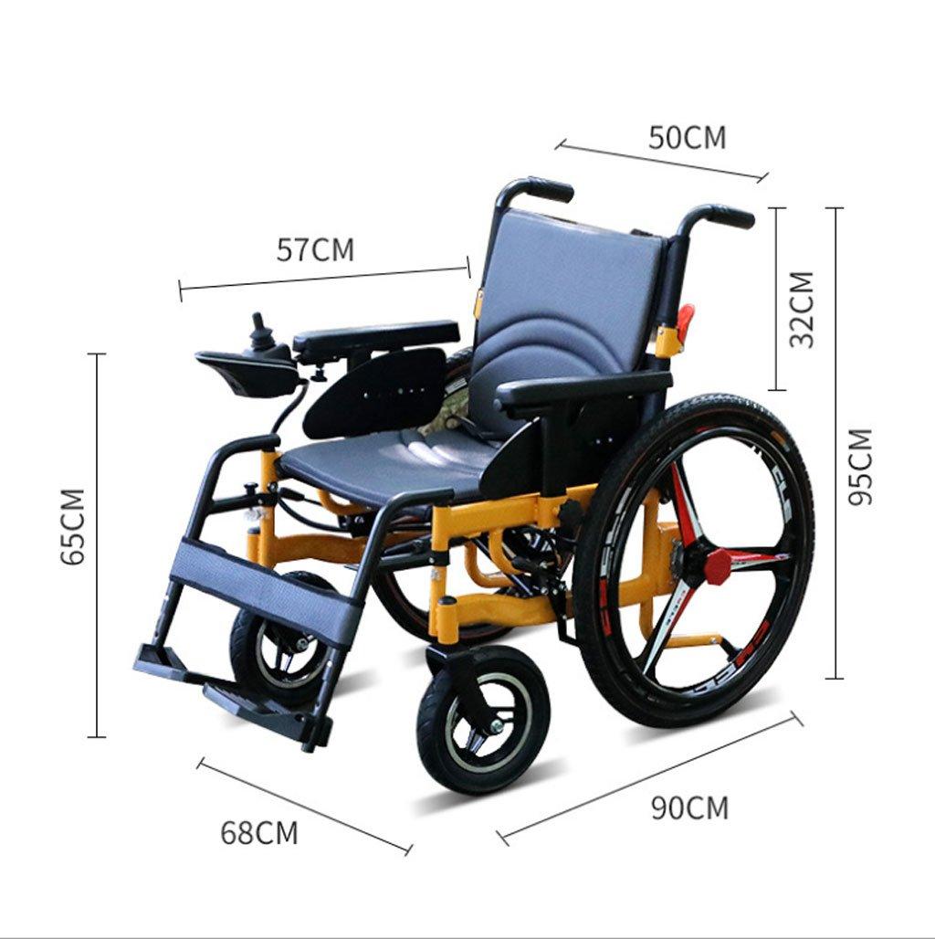 Silla de ruedas eléctrica de la aleación de Aluminio, Vespa de Cuatro Ruedas, Todo Inteligente, discapacitados Mayores, Plegable