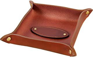 product image for Col. Littleton Genuine Italian Bridle Leather Dresser Caddy | Made in USA