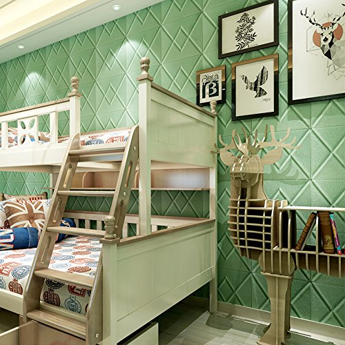 AMOFINY Home Decor New PE Foam 3D Wallpaper DIY Wall Stickers Wall Decoration Embossed Brick ()