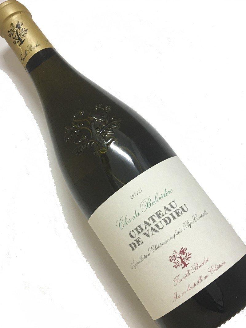 2015年 シャトー ド ヴォーデュー シャトーヌフ デュ パプ ブラン クロ デュ ベルヴェドール 750ml フランス ローヌ 白ワイン  B07CZ7RG1Y
