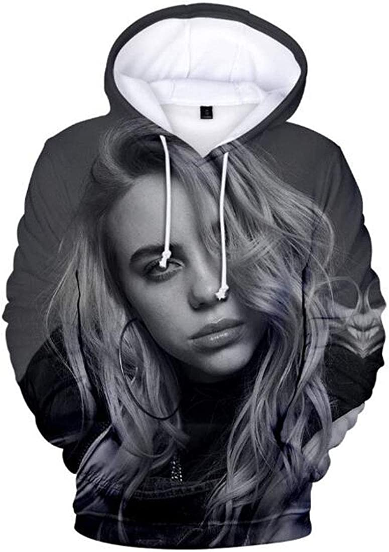 MeiMei Unisex 3D Printed Hoodie Dont Smile at Me Pullover Sweatshirt