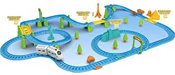 Webby Kids Huge Train with Flyover with Intelligent Sensing and Dialog, Multi Color