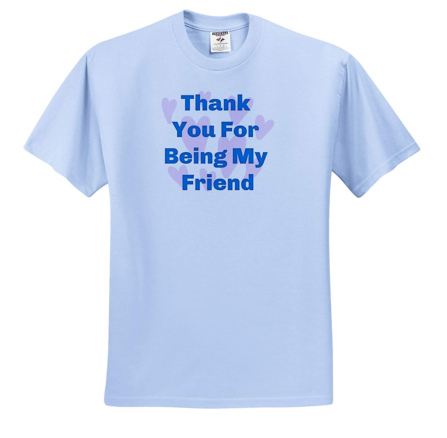 Image of Thank You for Being My Friend ts/_317450 Adult T-Shirt XL 3dRose Carrie Merchant Image Quote