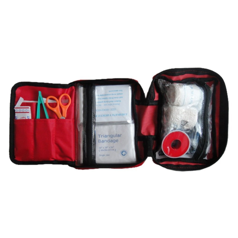 GQMART 11Pcs Portable First Aid Kit Set For Outdoor Travel Sports, Emergency Survival, Indoor Or Car Treatment Pack Bag