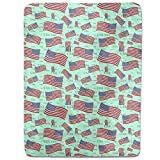 US Flag Fitted Sheet: King Luxury Microfiber, Soft, Breathable