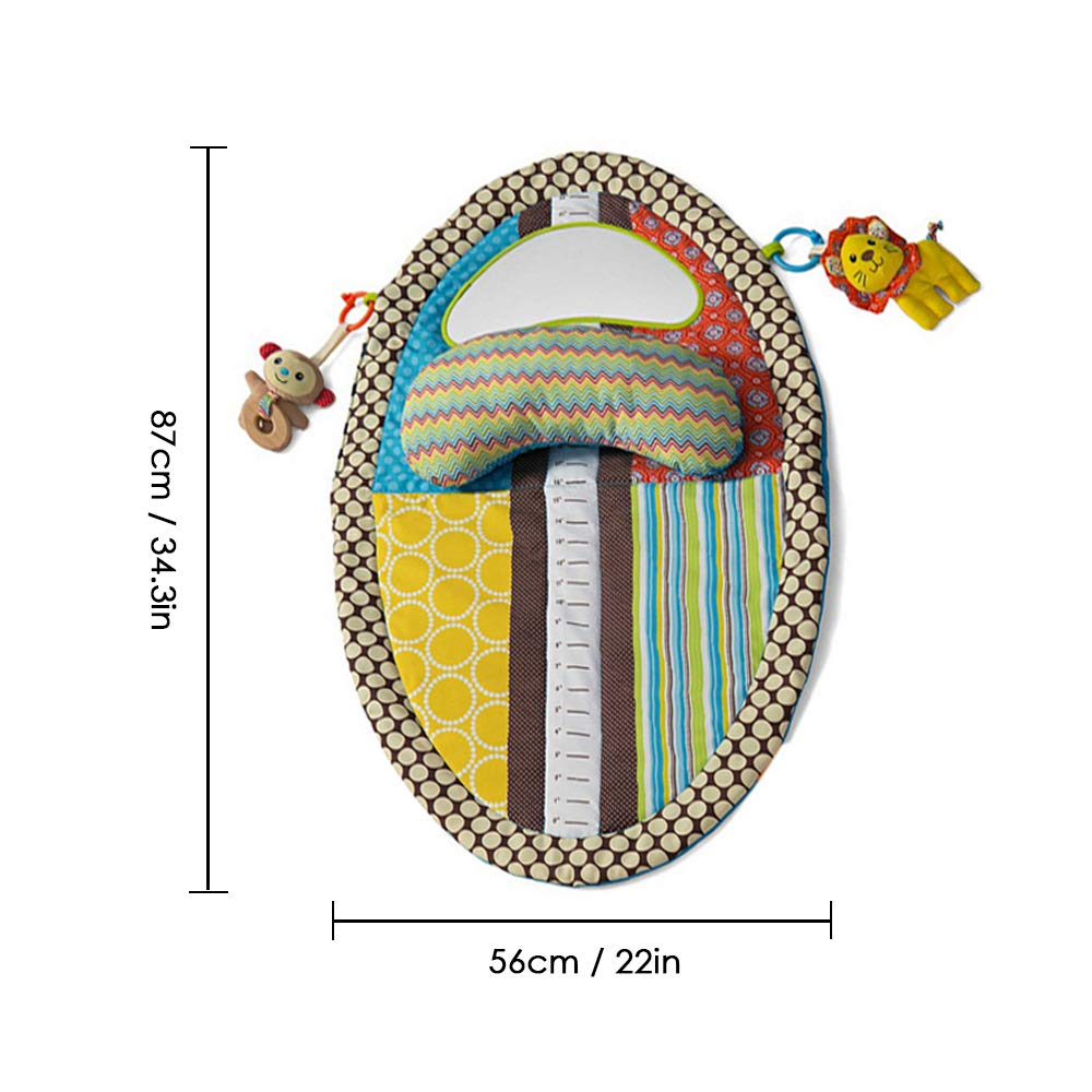 homese Baby Cotton Creeping Game Blanket Infant Height Carpet Breathable Waterproof Urinal Pad Tummy Time Crawl Play Mat Early Education Toy