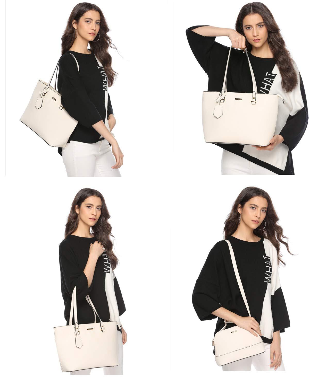 ELIMPAUL Women Fashion Handbags Tote Bag Shoulder Bag Top Handle Satchel Purse Set 4pcs by ELIMPAUL (Image #7)