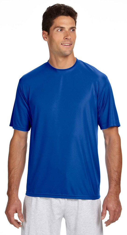 A4 Short-Sleeve Cooling Performance Crew Neck T-Shirt by A4