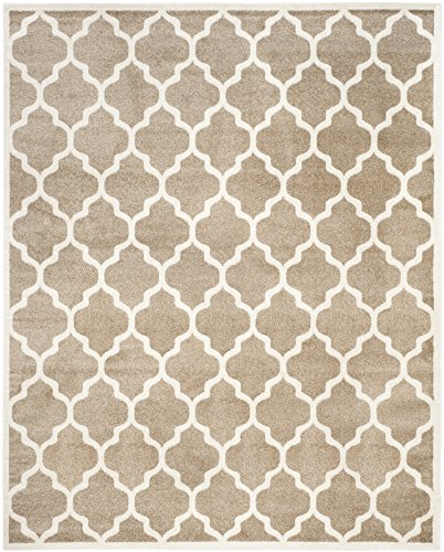 (Safavieh Amherst Collection AMT420S Wheat and Beige Indoor/ Outdoor Area Rug (8' x 10'))