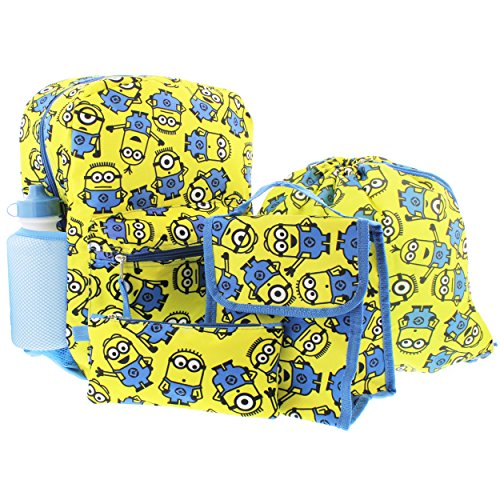 Despicable Me Big Boy's Despicableme Backpack 5pcset Minionseverywhere Accessory, Yellow, 16 Inches