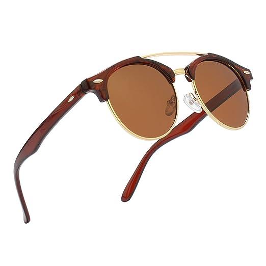796d4310b86 GQUEEN Dapper Fashion Brow Crossbar Polarized Sunglasses Brand ...