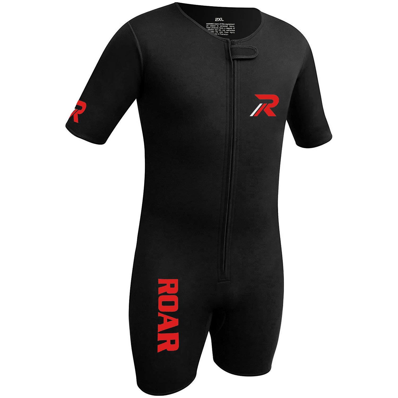 Roar Neoprene Suit Sweet Unisex (Black Red, X-Large) by Roar (Image #2)