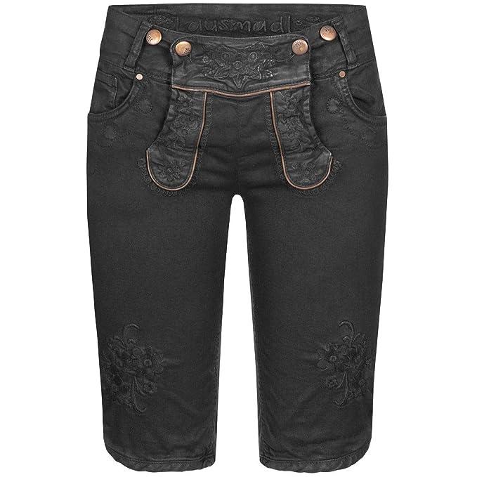 Hangowear Damen Trachten Mode Jeans Lederhose Bermuda Ovida