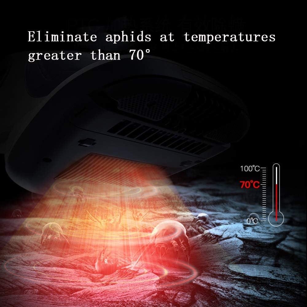 Acariens Poussière Lit Aspirateur en Plus Stérilisation UV Stérilisation à Haute Température 85 Degrés,White White