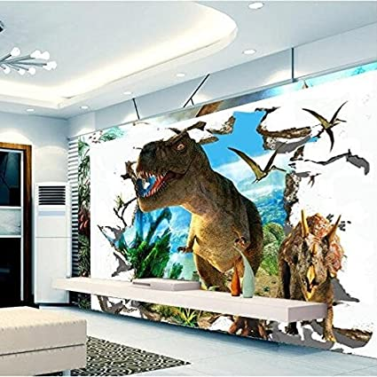 350x260cm 3d Wallpaper Mural Dinosaurs Background Wall Painting