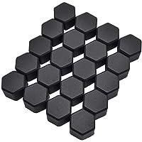 Gebildet 20pcs Zwart Siliconen 19mm Auto Voertuig Wiel Moer Lug Hub Covers Schroef Stof Beschermen Dops