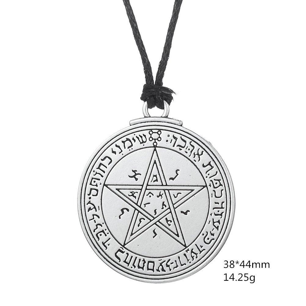 Dawapara Vintage Pendant Talisman Amulet Pentacle Seal of Venus of King Solomon Necklace Jewelry for Women Men