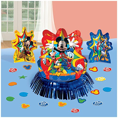 Amscan DisneyMickey Mouse Birthday Party Assorted Table Deco