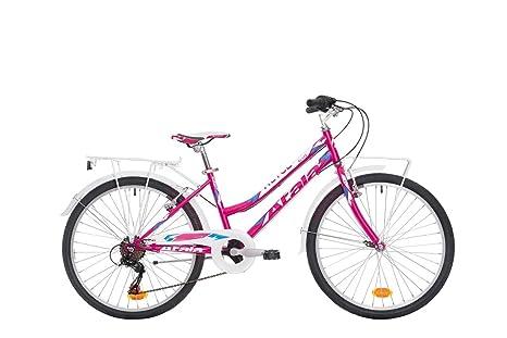 Bici Bambina Atala Alice Shimano Rd Tz50 6v Ruota 24 Passeggio