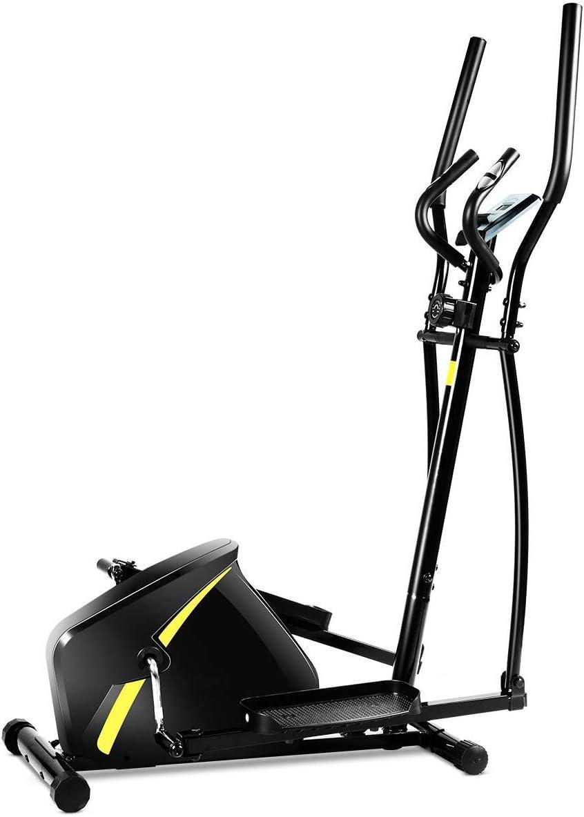 COSTWAY Bicicleta Estática Mmagnética Resistencia Ajustable Bicicleta Elíptica con Pantalla para Entrenamiento Carga hasta 100 kg Negro: Amazon.es: Deportes y aire libre