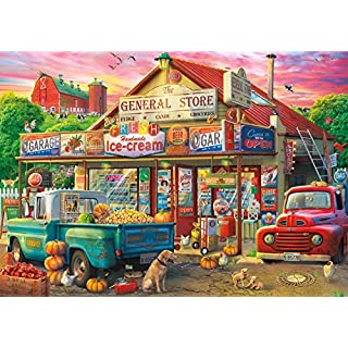 """Buffalo Games - Country Store - 500 Piece Jigsaw Puzzle, Multicolor, 21.25"""" L X 15"""" W"""