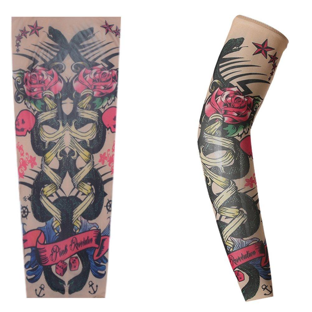 zantec libre tamaño Tattoo Pattern Sun Screen Sleeve elegante Pierna Mangas para actividades en exteriores (estilo al azar) C: Amazon.es: Hogar
