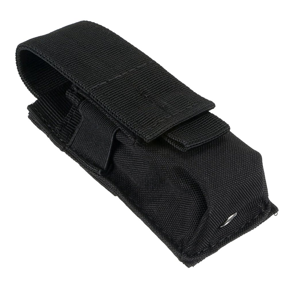 APELL MagiDeal Light Pouch Carry Case Molle Flashlight Torch Belt Holster Holder Case Pouch - Black