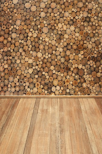 Leyiyi 6x8ft Photography Background Grunge Graffiti Backdrop Wood Log Pile Firewood Kindle Product Display Merry Christmas Happy New Year Thanksgiving Photo Portrait Vinyl Studio Video Prop (Merry Log Products)