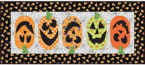 Kim Christopherson Broomhilda's Bakery Pumpkin Patch Tabler Runner Quilt Kit Maywood Studio ()