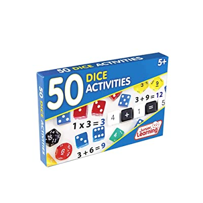 Junior Learning 50 Dice Activities Educational Action Games: Toys & Games