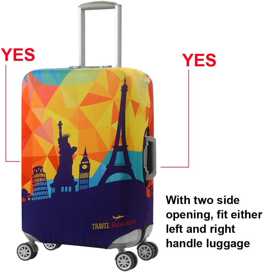 ALAZA Lama Machu Picchu Luggage Cover Fits 29-32 Inch Suitcase Spandex Travel Protector XL