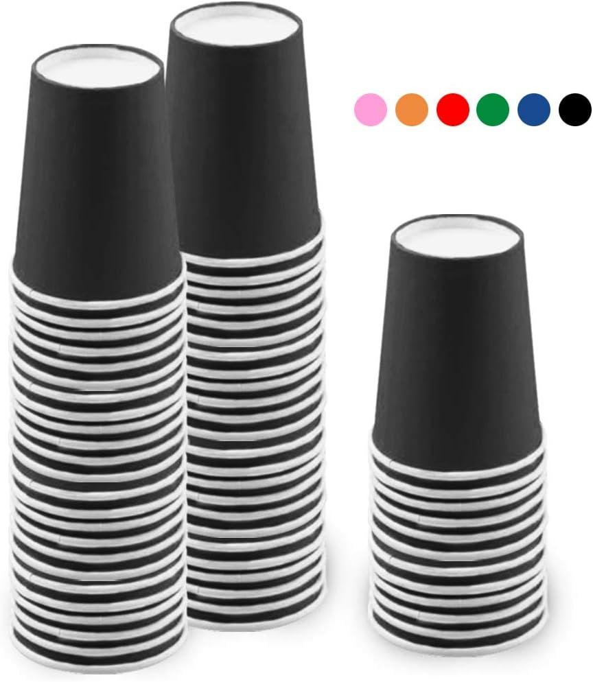 JINLE 60 Pezzi Blu Bicchieri di Carta USA e Getta Biodegradabili e Compostabile Bicchieri Monouso per Feste Vacanze Compleanni 255 ml per Fai da Te