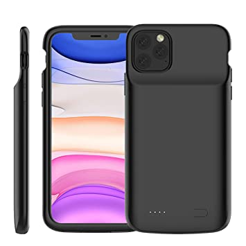 Casewin Funda Bateria para iPhone 11 Pro MAX 6.5 Inch, 5000mAh Li-Polymer Batería Externa Recargable Backup Charger Carcasa Portátil Power Bank Case ...