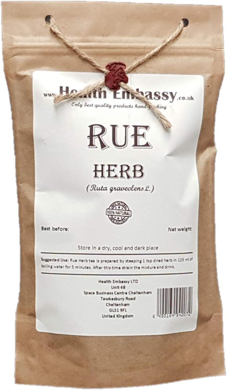 Hierba de Ruda (Ruta graveolens) / Rue Herb - Health Embassy - 100% Natural (50g)