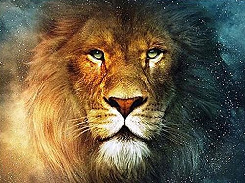 TSING DIY Crystals Paint Kit 5D Diamond Painting By Number Kits, The Lion-15''W20''L by Tsing