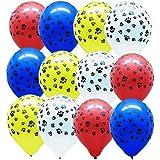 50 Dog Paw Print Balloons & Vinyl Decals...