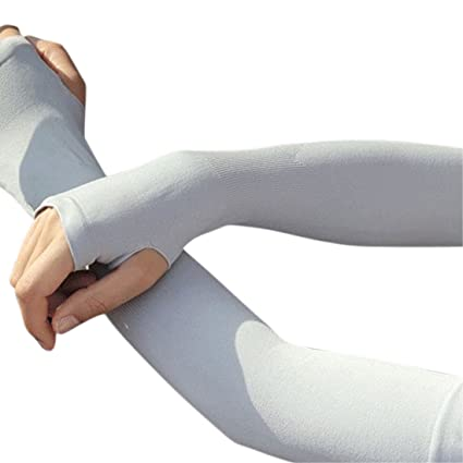 NIANPU UV Protection Cooling Arm Sleeves - UPF 50 Long Sun Sleeves for Men    Women dbc2ed131