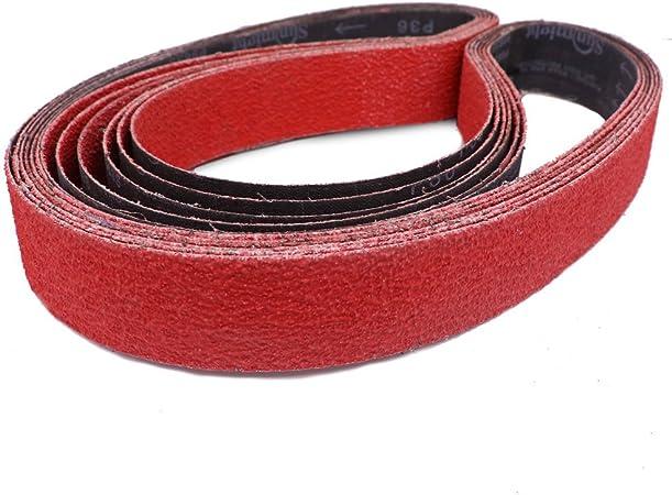 Long Life Pack of 6 2 X 72 Inch 220 Grit Metal Grinding Ceramic Sanding Belts