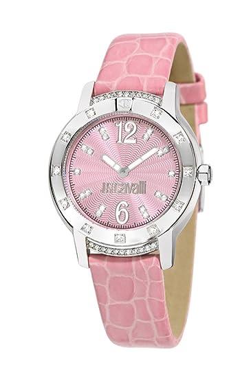 Just Cavalli R7251161575 - Reloj de mujer de cuarzo, correa de piel color rosa