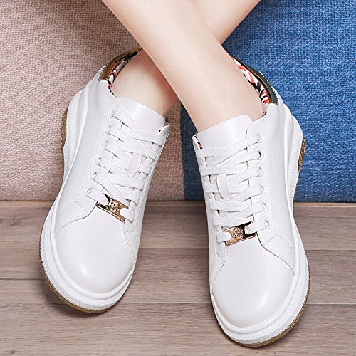 KHSKX-New Spring Shoes Casual Shoes Tie Female Flat Shoes Head Deep Low Shoes Female. Golden 4yDaq7