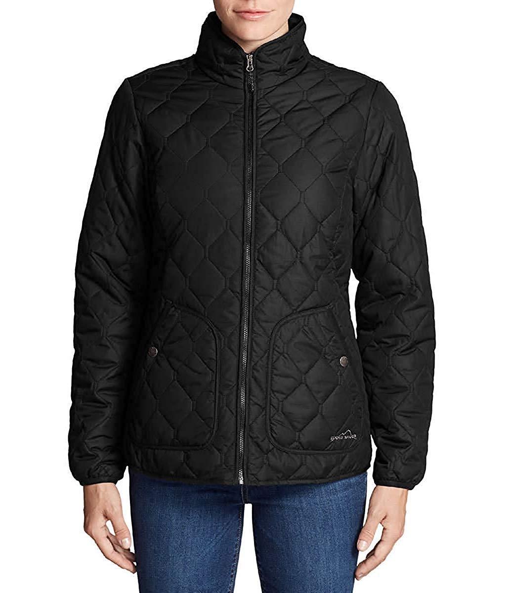 Eddie Bauer Women's Year Round Quilted Field Jacket (Black, Large) by Eddie Bauer